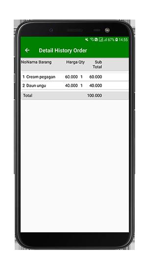 Jual code History Aplikasi Android Toko Online